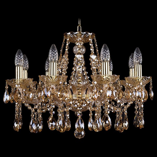 Подвесная люстра 1413/8/200/G/M721 Bohemia Ivele Crystal  (BI_1413_8_200_G_M721), Чехия