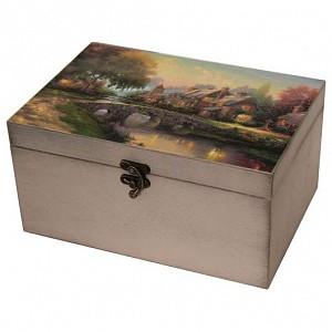 Шкатулка декоративная (26х18х11.5 см) Сказочный пейзаж 1725-15