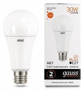 Лампа светодиодная [LED] Gauss E27 30W 3000K