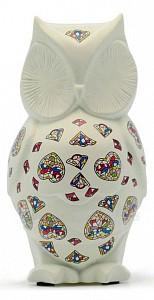 Статуэтка (105 мм) Сова белая с декором 763011