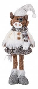 Мягкая игрушка (12х6х39 см) Телочка Виола в вязаной кофточке 476-138