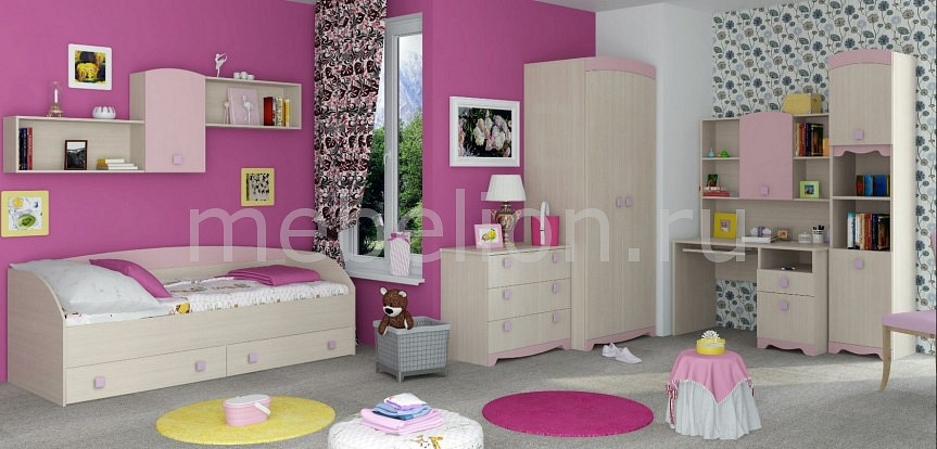 Комод детский Интеди NTD_Pink_system_K2 от Mebelion.ru