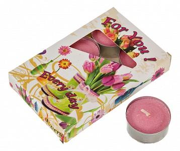 Набор из 6 свечей ароматических (4x2 см) Орхидеи 348-493