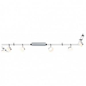Спот поворотный Glassled, 6 лампы  по 4 Вт., 1.86 м², цвет никель матовый