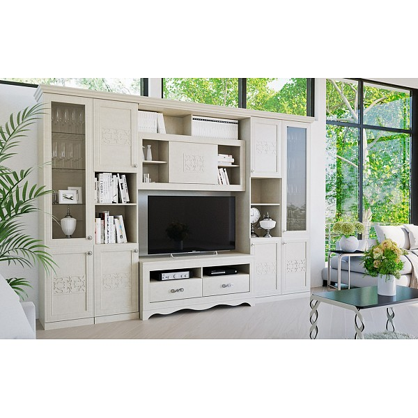 Стенка для гостиной Саванна ГН-234.004 ТриЯ TRI_Savanna_living_room_system_4
