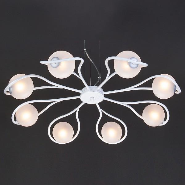 Подвесная люстра Camomile 70089/8 белый с серебром фото