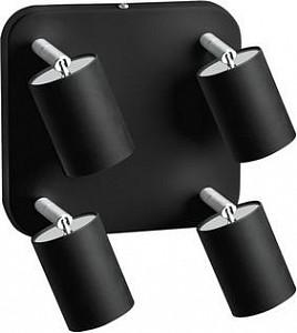 Спот поворотный Eye Spot Black, 4 лампы GU10 по 35 Вт., 6.5 м², цвет черный матовый