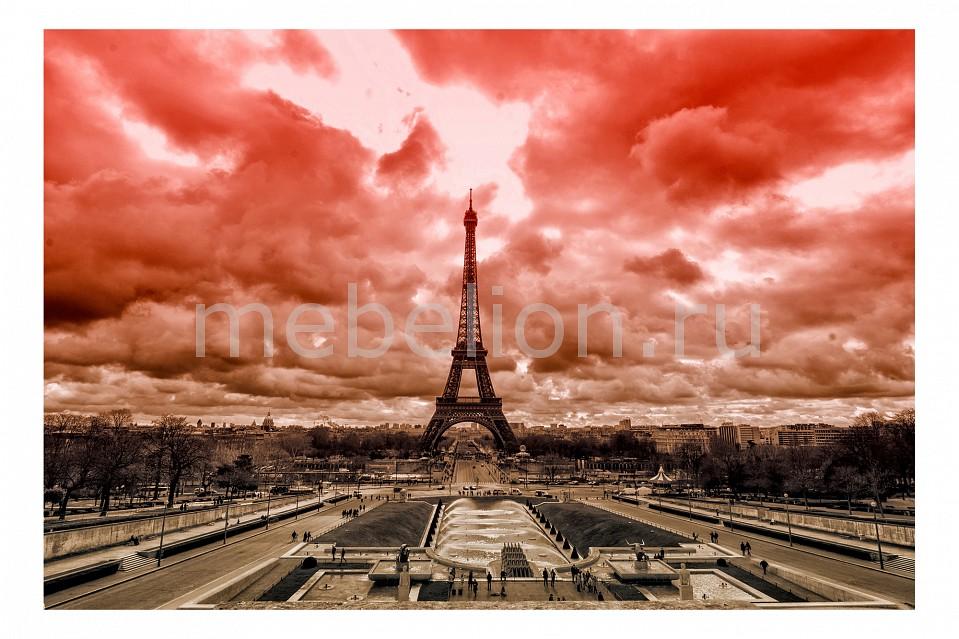 Купить Панно (60х40 см) Париж 149895838, Ekoramka, Россия, коричневый, красный, дерево, холст