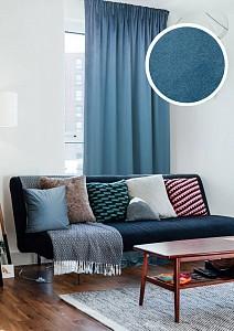 Портьера Milfay 146x270 см., цвет синий
