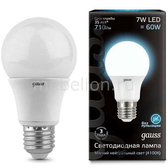 Купить Лампа светодиодная E27 7Вт 150-265В 4100K 102502207, Gauss