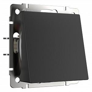 Розетка для вывод кабеля без рамки черный матовый W1150208