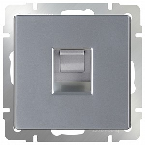 Розетка Ethernet RJ-45 без рамки Серебряный WL06-RJ-45
