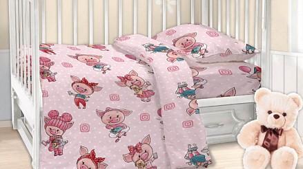 Комплект постельного белья в кроватку Хрюшки DTX_6487-439