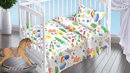 Белье в кроватку для новорожденного Радуга DTX_4625-439