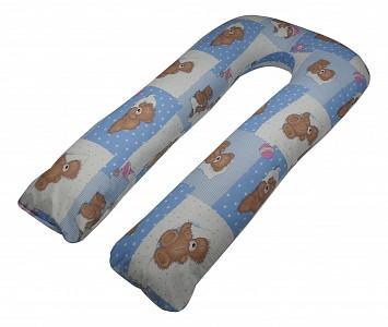 Подушка для беременных (80x140x35 см) Мишки