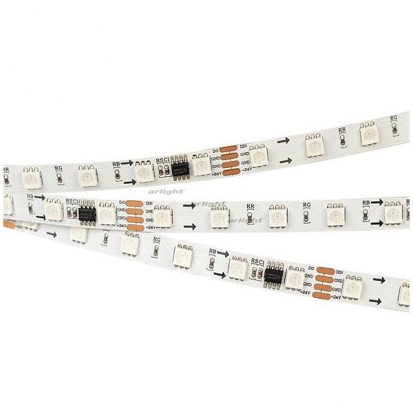 Лента светодиодная [5 м] SPI-5000-5060-60 24V Cx6 RGB-Auto (10mm, 13.2W/m, IP20) 026765(1) ARLT_026765_1