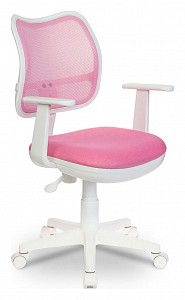 Кресло компьютерное Бюрократ CH-W797 розовое