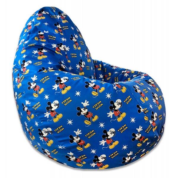 Кресло-мешок Микки Маус Синее XL
