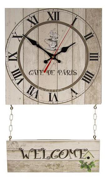 Настенные часы Акита (30х52 см) С подвесным декором C70