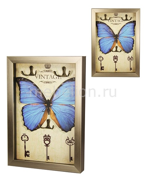 Ключница Акита (23х33 см) Бабочка-AKI 7364 ключница акита 23х33 см путешествия aki 7372