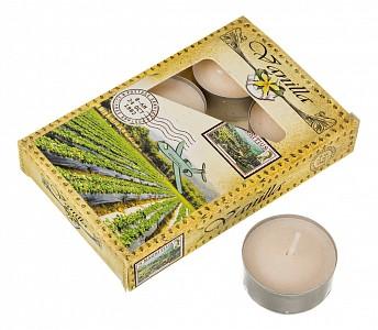 Набор из 6 свечей ароматических (4x2 см) Ваниль 348-490