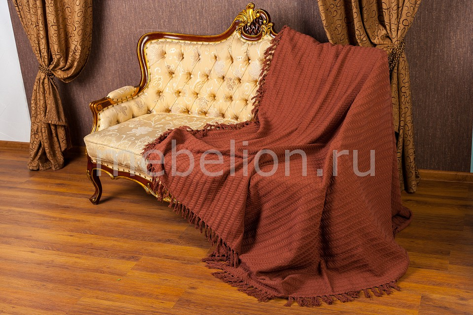 Купить Покрывало полутораспальное Кантри, Arloni, коричневый, хлопок 100%