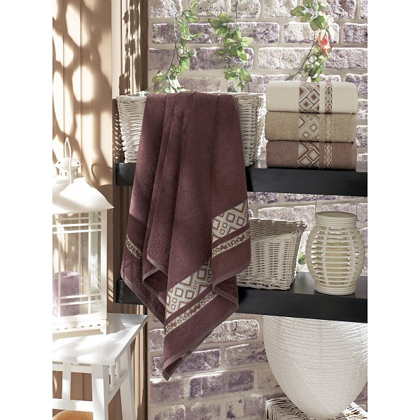 Набор из 4 банных полотенец (70x140 см) Camellia DO&CO MTH_8875