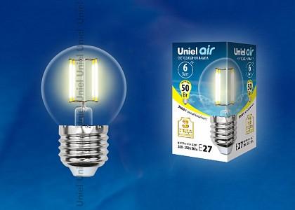 Лампа светодиодная [LED] Uniel E27 6W 3000K