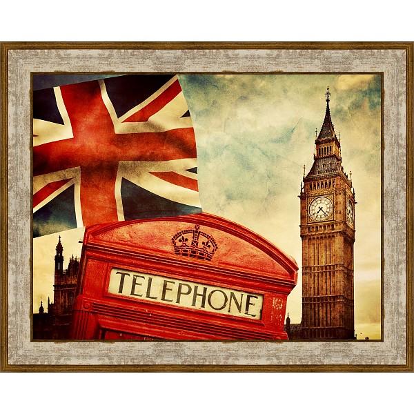 Картина (50х40 см) Винтажный Лондон BE-103-397 фото