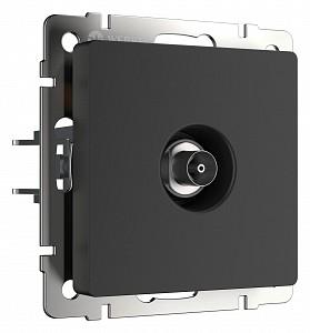 ТВ-розетка оконечная без рамки черный матовый W1183008