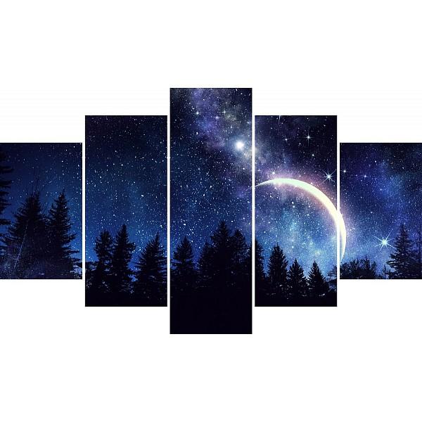 Набор из 5 картин (150x90 см) Звездное небо HE-107-304 фото