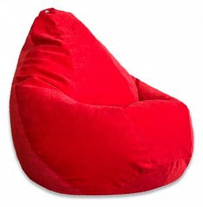 Кресло-мешок Красный Микровельвет 3XL