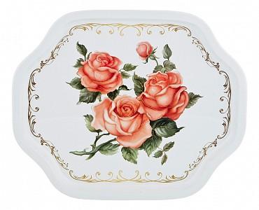 Поднос (33х27х2 см) Корейская роза 913-125