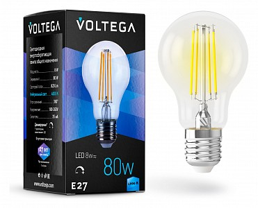 Лампа светодиодная [LED] Voltega E27 8W 4000K