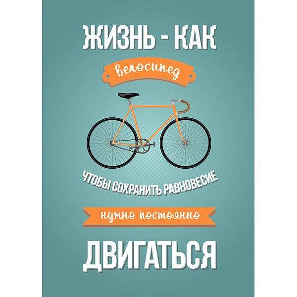 Картина (40х50 см) Жизнь - как велосипед HE-102-244 фото