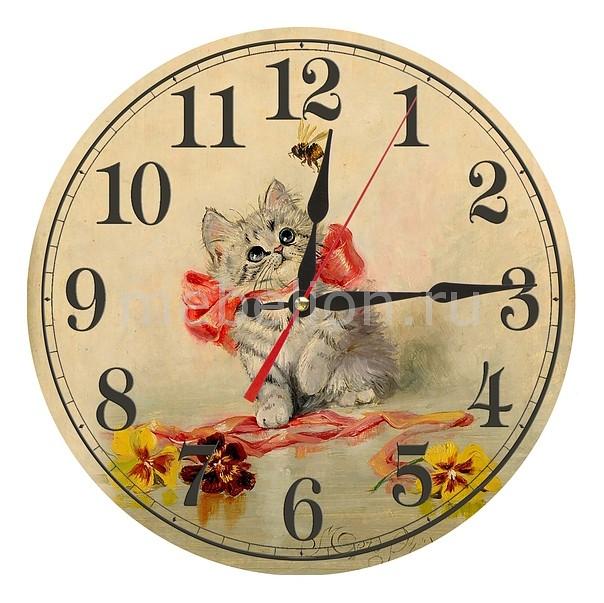Настенные часы Акита (30 см) Котенок AC05 цена и фото