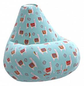 Кресло-мешок Ламы Голубое Жаккард XL
