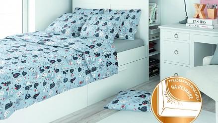 Комплект постельного белья Eco Cotton Combo Gatos RE