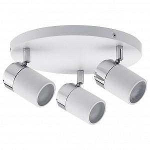Спот поворотный Zyli, 3 лампы GU10 по 10 Вт., 8.57 м², цвет белый матовый