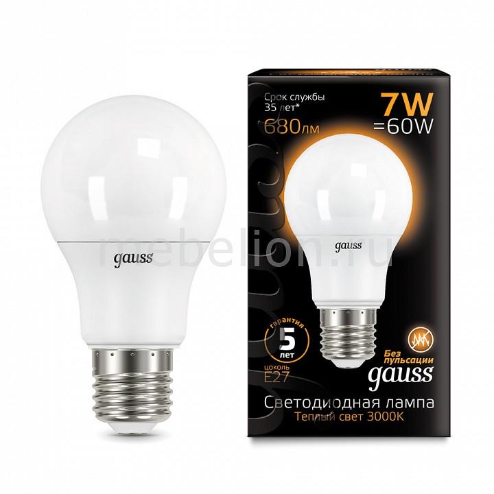 Купить Лампа светодиодная E27 7Вт 150-265В 3000K 102502107, Gauss, Китай