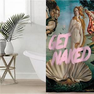 Штора для ванной (145x180 см) Get naked