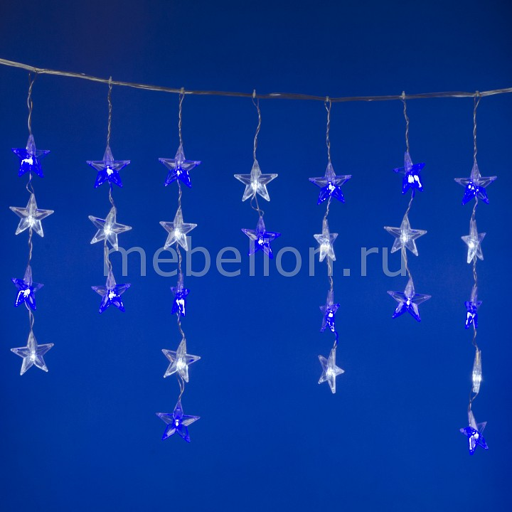 Бахрома световая (5.5 x0.5 м) ULD-E5505-196/DTK WHITE-BLUE IP20 STARS-1