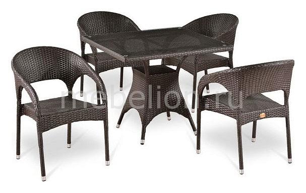Набор уличный Afina T220BT/Y90C-W51 Brown 4Pcs кресло afina y137c w51 brown