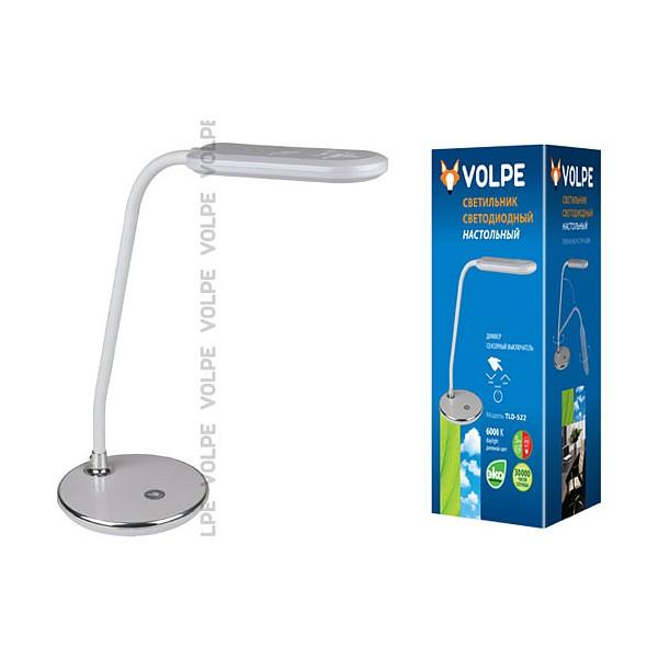 Настольная лампа офисная TLD-522 TLD-522 Silver/LED/360Lm/6000K/Dimmer Volpe фото