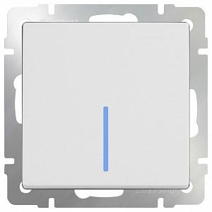 Выключатель одноклавишный с подсветкой без рамки Белый WL01-SW-1G-LED