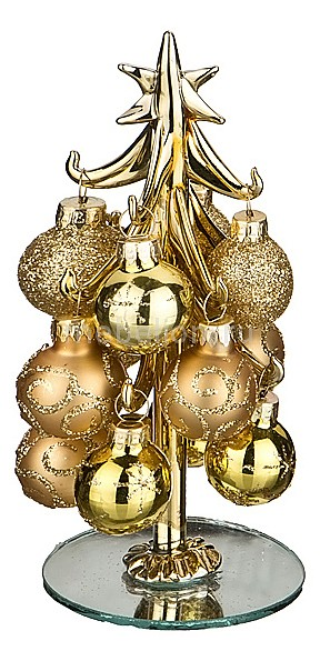 Ель новогодняя с елочными шарами АРТИ-М (15 см) ART 594-108 ель новогодняя crystal trees 1 2 м триумфальная с шишками kp8612