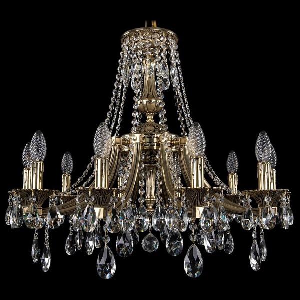 Подвесная люстра 1771/10/220/A/GB Bohemia Ivele Crystal  (BI_1771_10_220_A_GB), Чехия