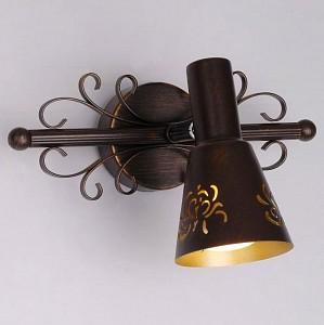 Спот поворотный Дункан, 1 лампы E14 по 60 Вт., 2.4 м², цвет кофейный матовый