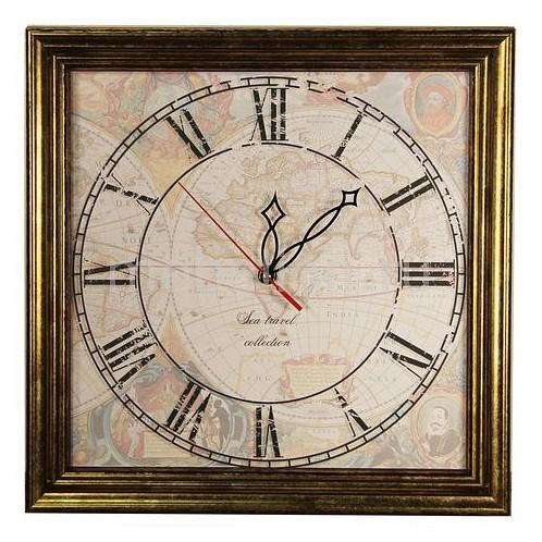 Настенные часы Акита (33.5х33.5 см) Карта-AKI 3434 aki kumar