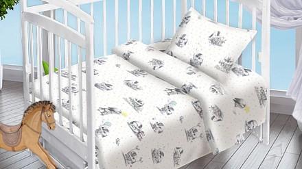 Постельное белье в кроватку Зайка DTX_8816-439